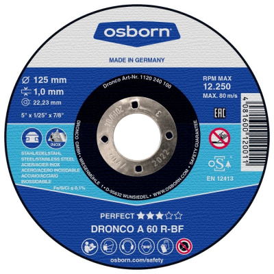 DISQUE A TRONCONNER PLAT 125X1.0X22.2 A60R PERFECT 1120-240.100